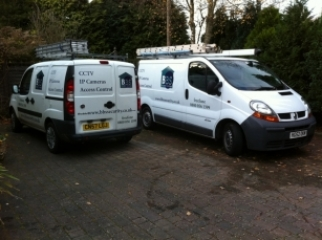 BBS Security Systems installer vans